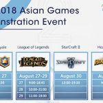 What is the schedule for the Asian Games 2018 Jakarta Palembang League of Legends (LOL)?