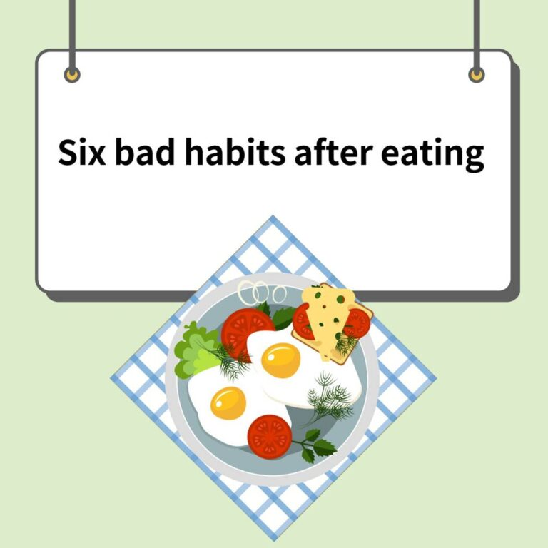 Six bad habits after eating